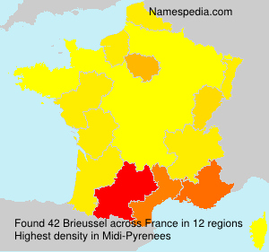 Surname Brieussel in France