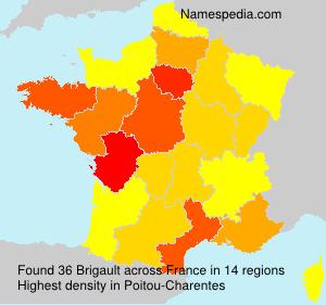 Familiennamen Brigault - France