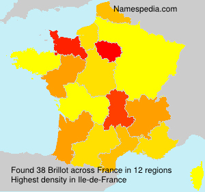 Surname Brillot in France