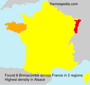 Surname Brimacombe in France