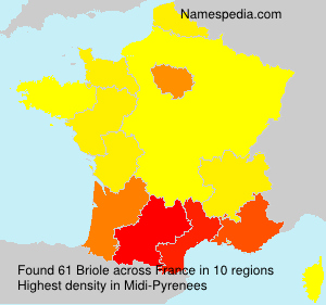 Surname Briole in France