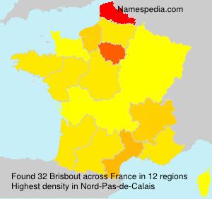 Surname Brisbout in France