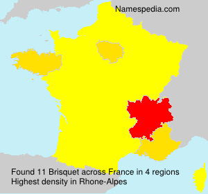 Surname Brisquet in France