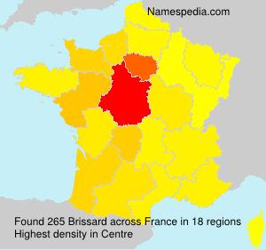 Familiennamen Brissard - France