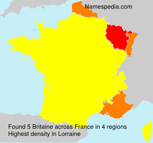 Surname Britaine in France