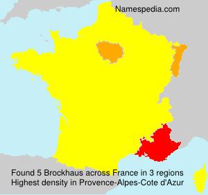Familiennamen Brockhaus - France