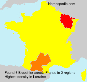 Surname Broechler in France