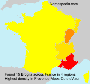 Surname Broglia in France