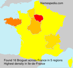 Surname Broguet in France