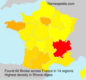 Surname Broise in France