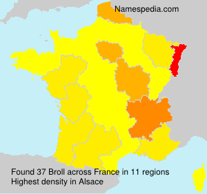 Surname Broll in France