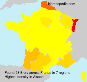 Familiennamen Broly - France