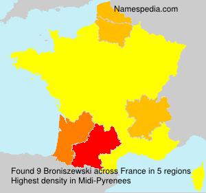Surname Broniszewski in France