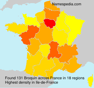 Surname Broquin in France