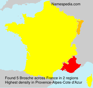 Surname Brosche in France