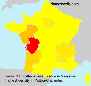 Surname Brothe in France