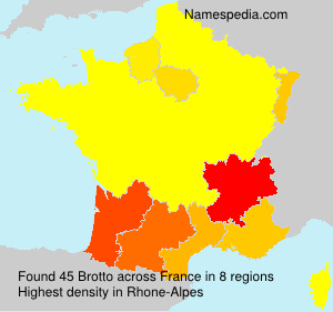 Surname Brotto in France