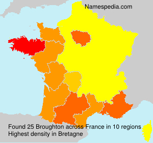 Surname Broughton in France