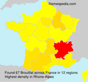 Surname Brouillat in France