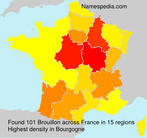 Surname Brouillon in France