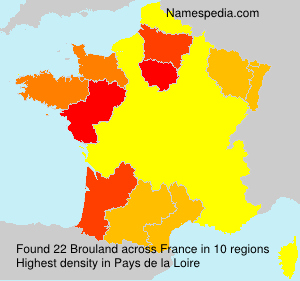 Surname Brouland in France
