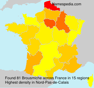 Surname Brousmiche in France