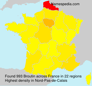 Surname Broutin in France