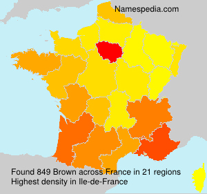 Surname Brown in France