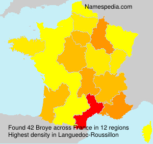 Familiennamen Broye - France