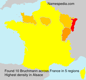 Surname Bruchmann in France
