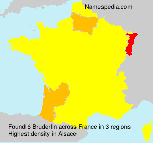 Surname Bruderlin in France