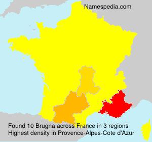 Surname Brugna in France