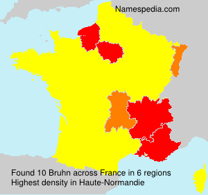 Surname Bruhn in France