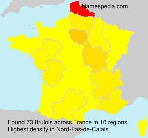 Familiennamen Brulois - France