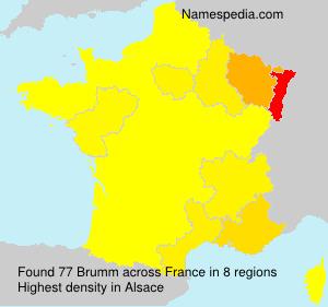 Surname Brumm in France