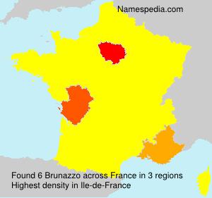 Familiennamen Brunazzo - France