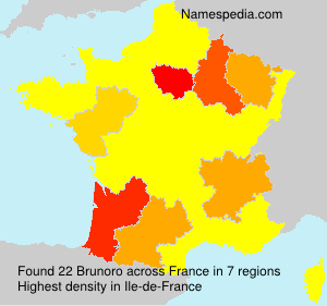 Surname Brunoro in France