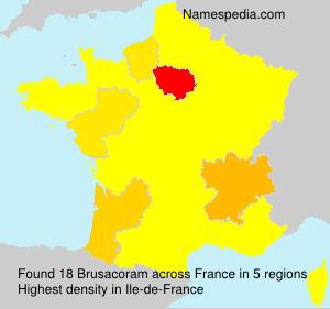 Surname Brusacoram in France