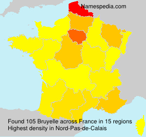 Surname Bruyelle in France