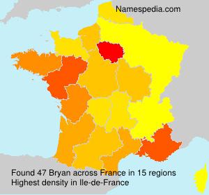 Surname Bryan in France