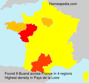 Surname Buand in France