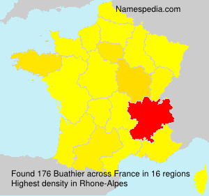 Surname Buathier in France