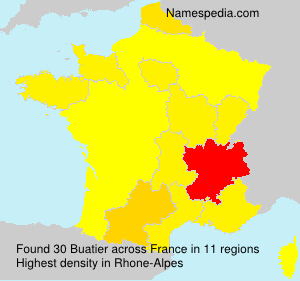 Surname Buatier in France