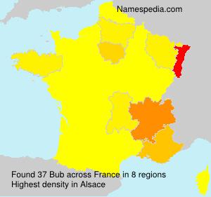 Surname Bub in France