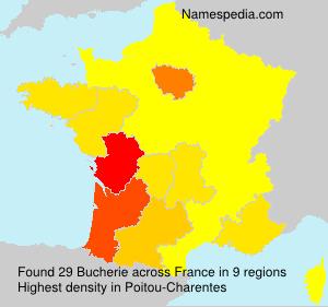 Surname Bucherie in France