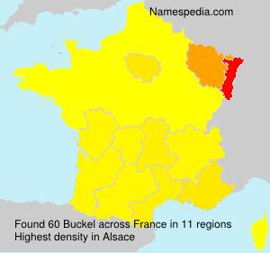 Surname Buckel in France