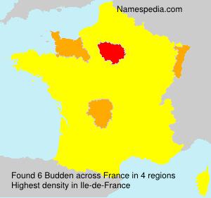 Familiennamen Budden - France