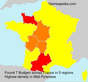 Surname Budgen in France