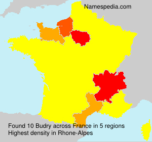 Surname Budry in France