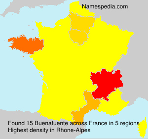 Surname Buenafuente in France